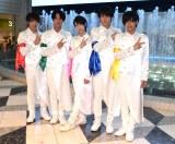 5枚目のシングル発売記念フリーライブを行った、MAG!C☆PRINCE (左から)平野泰新、阿部周平、西岡健吾、永田薫、大城光 (C)ORICON NewS inc.