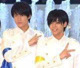 5枚目のシングル発売記念フリーライブを行った、MAG!C☆PRINCE (左から)永田薫、大城光 (C)ORICON NewS inc.
