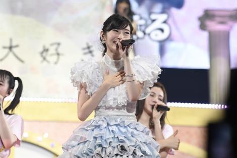 卒業コンサートを行ったSKE48・大矢真那 (C)AKS