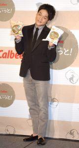 カルビー『ぽいっと!』の新商品発表会に出席したおばたのお兄さん (C)ORICON NewS inc.