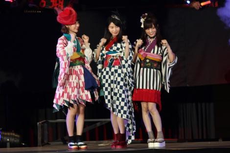 ユニット「はんたんねぇ」(左から)宮脇咲良、横山由依、山本彩 写真:estudio pepe 神田有希
