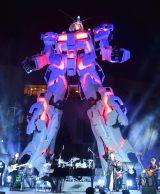 東京・台場のダイバーシティ東京プラザフェスティバル広場に立つ「実物大ユニコーンガンダム立像」 (C)ORICON NewS inc.