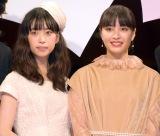 映画『先生! 、、、好きになってもいいですか?』完成披露舞台あいさつに登壇した(左から)森川葵、広瀬すず (C)ORICON NewS inc.