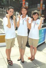 『汐博2012』キックオフイベントに登場した(左から)杉野真実アナ、馬場典子アナ、久野静香アナ (C)ORICON DD inc.