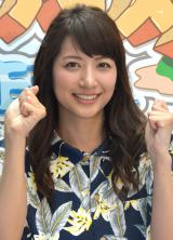 報道陣の前に初お披露目となった日本テレビの新人アナウンサーの笹崎里奈 (C)ORICON NewS inc.