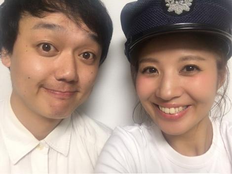 結婚を報告したななめ45°・岡安章介(左)と木本夕貴