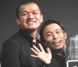 『DMM GAMES×レベルファイブ』記者発表会に出席したカミナリ (C)ORICON NewS inc.