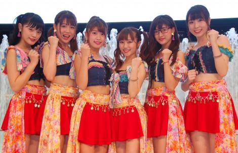 エイベックスからメジャーデビューすることを発表した大阪☆春夏秋冬(左から)RUNA、MANA、EON、MAINA、ANNA、YUNA (C)ORICON NewS inc.