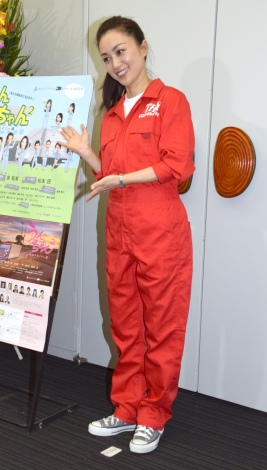 舞台『うんちゃん2』のゲネプロ&囲み取材に参加した酒井法子 (C)ORICON NewS inc.