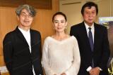(左から)安藤紘平氏、河瀬直美監督、久松猛朗氏 (C)ORICON NewS inc.