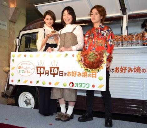 「OKO STAND」オープン記念イベントに参加した(左から)ダレノガレ明美、誠子、渚 (C)ORICON NewS inc.
