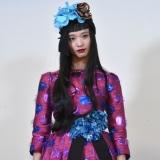 ファッションショーに出演した萬波ユカ (C)ORICON NewS inc.
