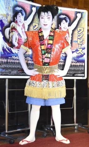 スーパー歌舞伎II『ワンピース』の公開けいこ前の囲み取材に出席した市川猿之助 (C)ORICON NewS inc.