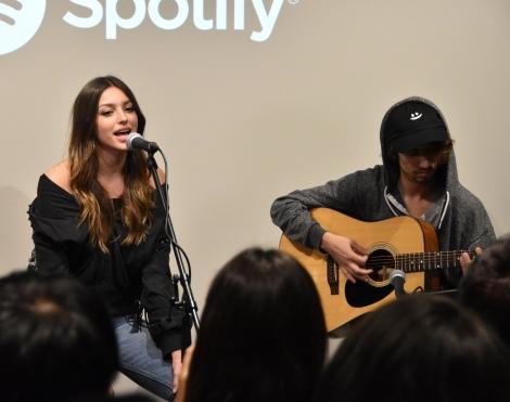 『Spotify×Celine Farach 新曲先行試聴会』に出席したセリーヌ・ファラク