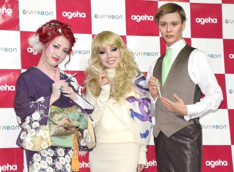 女性向け雑誌『ageha』の新創刊記念イベントに出席した(左から)五月千和加、研ナオコ、Matt (C)ORICON NewS inc.