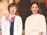 『怖い絵展』報道向け内覧会のトークショーに参加した(左から)特別監修の中野京子氏、吉田羊 (C)ORICON NewS inc.