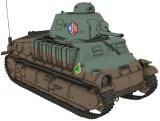 『ガールズ&パンツァー 劇場版 最終章』BC自由学園の戦車「ソミュアS35」 (C)GIRLS und PANZER Finale Projekt