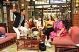 10月9日放送の関西テレビ・フジテレビ系『さんまのまんま 秋のさんまもゲストも脂がノッてますSP』に出演するPerfume、渡辺直美(C)関西テレビ
