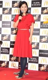イベントに登壇した石田ひかり=マクドナルド・冬のキャンペーン『HOT JAPAN』の発表会 (C)ORICON NewS inc.