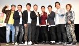 (左から)ほんこん、原西孝幸、大村朋宏、木村祐一、ジャングルポケット、渚 (C)ORICON NewS inc.