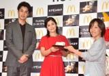 マクドナルド・冬のキャンペーン『HOT JAPAN』の発表会の模様 (C)ORICON NewS inc.