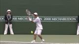 「岡村オファーシリーズ」第12弾:岡村隆史、松岡修造の指導のもと、杉山愛とテニス対決(2008年10月4日放送)