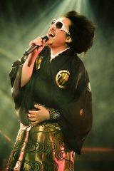 日本武道館公演で14曲を熱唱したレキシ Photo by 田中聖太郎