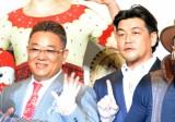 『ダイハツ キュリオス』日本公演記者会見に出席したサンドウィッチマン(左から)伊達みきお、富澤たけし (C)ORICON NewS inc.