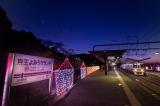 京王よみうりランド駅のホームイルミネーション(写真は昨年のもの)