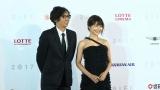 『第22回釜山国際映画祭』に参加した(左から)行定勲監督、有村架純 (C)2017「ナラタージュ」製作委員会