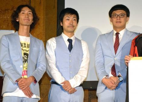 『原作開発プロジェクト』漫画部門グランプリ作品授賞イベントに参加したGAG少年楽団 (C)ORICON NewS inc.