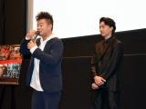 大げさに泣き演技を振り返る佐田正樹(左)を見る健太郎 (C)ORICON NewS inc.