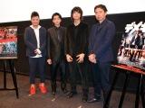(左から)佐田正樹、健太郎、カナタタケヒロ(LEGO BIG MORL)、山口義高監督=『京都国際映画祭』映画『デメキン』舞台あいさつ (C)ORICON NewS inc.