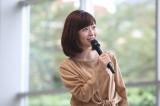 『テレビ朝日アナウンサー2018年カレンダー』販売開始記念イベントに登場した松尾由美子アナウンサー(C)テレビ朝日