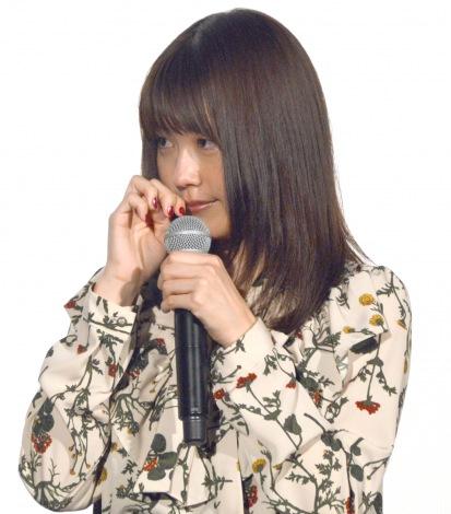 監督からの手紙に号泣した有村架純=映画『ナラタージュ』大ヒット舞台あいさつ (C)ORICON NewS inc.