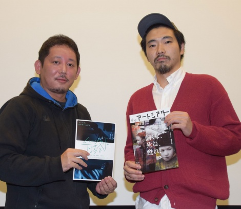 映画『動くな、死ね、甦れ!』のトークイベントに出席した入江悠監督と柄本佑 (C)ORICON NewS inc.