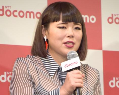 NTTドコモ『2017-2018 冬春 新サービス・新商品』の発表会に出席したブルゾンちえみ (C)ORICON NewS inc.