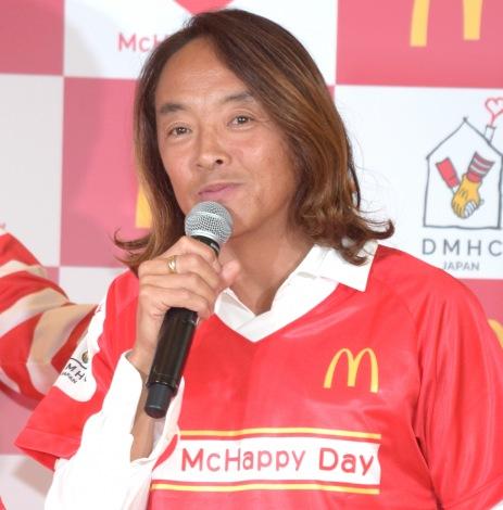 日本マクドナルド『McHappy Day』発表会に出席した北澤豪氏 (C)ORICON NewS inc.