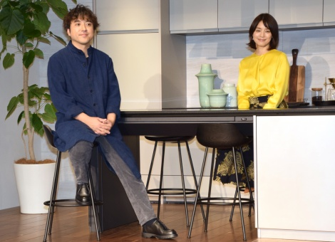 パナソニック『「住空間」提案』発表会に参加した(左から)ムロツヨシ、石田ゆり子 (C)ORICON NewS inc.