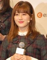 公式ゲームアプリ『欅のキセキ』のリリース&新CM発表会に登壇した欅坂46・守屋茜 (C)ORICON NewS inc.