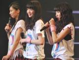 7月15日に2ndシングルを発売することを発表(左から)小林玲、志田友美、荻野可鈴 (C)ORICON NewS inc.