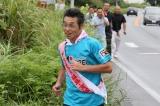 福島、宮城、岩手の東北3県を駆け抜ける『RUN FOWRARD KANPEI みちのくマラソン2017』がスタート。福島県富岡町内を走る間寛平