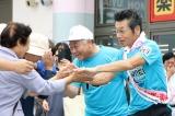 スタート地点、応援に駆け付けた富岡町副町長の滝沢一美氏と