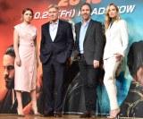 (左から)アナ・デ・アルマス、ハリソン・フォード、ドゥニ・ヴィルヌーヴ監督、シルヴィア・フークス (C)ORICON NewS inc.