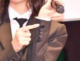 隠れ欅マークを披露=『欅坂46 UNIFORM MUSEUM supported by XYLITOL20th』開催記念イベント (C)ORICON NewS inc.