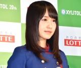 『欅坂46 UNIFORM MUSEUM supported by XYLITOL20th』開催記念イベントに出席した欅坂46・菅井友香 (C)ORICON NewS inc.