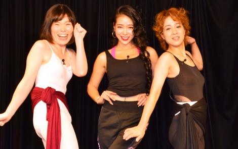 都内で映画『ポリーナ、私を踊る』公開直前イベントに参加した(左から)尼神インター・誠子、紅蘭、尼神インター・渚 (C)ORICON NewS inc.