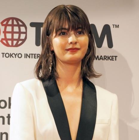 『JAPAN CONTENT SHOWCASE 2017』のウェルカムパーティーにスペシャルゲストとして出席したマギー (C)ORICON NewS inc.