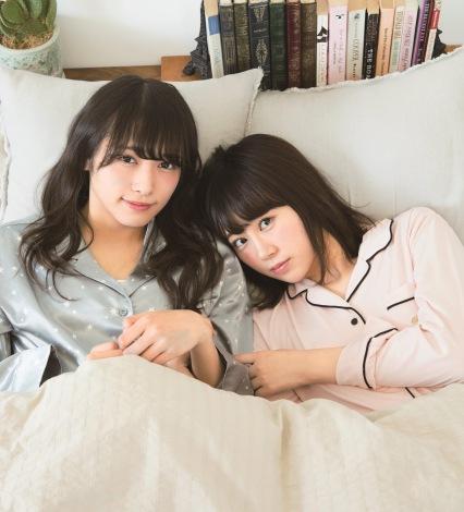 サムネイル 『smart』12月号に登場した欅坂46・渡辺梨加(左)と長沢菜々香