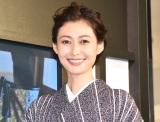 結婚5周年で円満をアピールした田丸麻紀=『LIBERTY LONDON×MORIGUCHI KUNIHIKO』オープニングセレモニー (C)ORICON NewS inc.